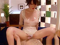 WAM asian hottie gets her bigtits cumshot