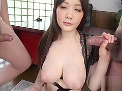 Filthy woman Rie Tachikawa deepthroats and rides