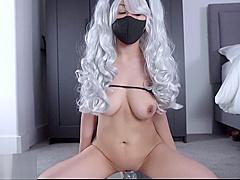 4K HD Kakashi Sexy no Jutsu cosplay creamy solo female masturbation