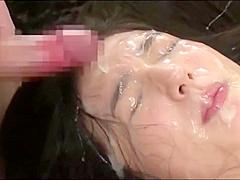 Awesome Guy Cum Kissing Girl After Bukkake Sperm Jizz Face Kiss man
