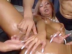 Finger fucking bitch enjoys herself