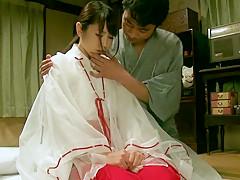 Hottest Japanese whore Chika Arimura, Hitomi Hoshino in Horny small tits, couple JAV movie