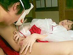 Hottest Japanese slut Chika Arimura, Hitomi Hoshino in Fabulous couple, college JAV scene