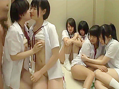 10 college girls line up to have sex with 1 guy