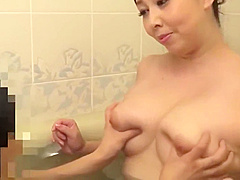 Mature Japanese Step Mother Playing With 2 Boys