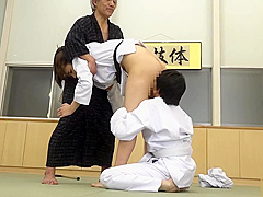 karate girl fight with a boy