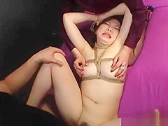 Rope Bound Asian Slut Dominated And Fucked By Hot Couple