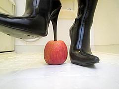 Asian Thigh High Boots Crush Apple