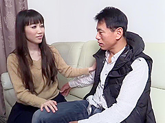 Amazing, Asian brunette with small tits is having sex with her co- worker, just for fun