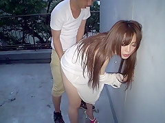 Best Japanese whore Megu Hazuki in Exotic doggy style, outdoor JAV movie