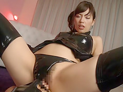 Horny Japanese slut Miyuki Yokoyama in Best fetish, latex JAV scene