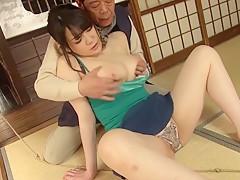Best Japanese chick Aki Nagase in Exotic couple, big tits JAV movie