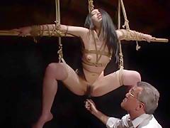 Exotic Japanese girl Hitomi Shirai in Incredible masturbation, bdsm JAV clip