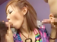 Horny Japanese chick Reina Matsuyama in Fabulous POV, Blowjob/Fera JAV video
