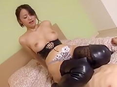 Exotic Japanese girl Kaede Niyama in Amazing Ass, Foot Fetish JAV clip