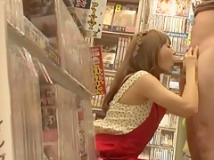 Exotic Japanese girl Tina Yuzuki in Crazy Handjobs JAV scene