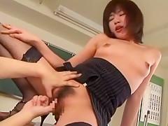 Crazy Japanese girl Ami Sakurai in Amazing Small Tits, Cunnilingus JAV video