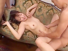 Fabulous Japanese chick in Crazy Threesomes, Small Tits JAV scene