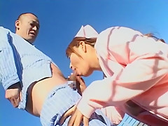 Best Japanese slut Nana Mochizuki in Fabulous Nurse/Naasu, Outdoor JAV scene