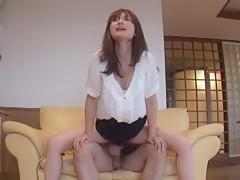 Horny Japanese girl Rena Sawaki in Hottest JAV clip