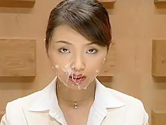 Fabulous Japanese model Ryoko Mizusaki, Miri Sugihara, Reiko Makihara in Horny Cumshots, Facial JAV movie