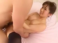 Amazing Japanese whore Minami Kojima in Incredible Stockings/Pansuto JAV clip