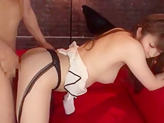 Hottest Japanese chick Sophia Kurasuno in Horny Stockings/Pansuto JAV scene