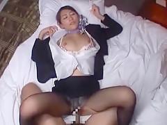 Best Japanese whore Aoki Misora in Crazy Secretary, POV JAV movie