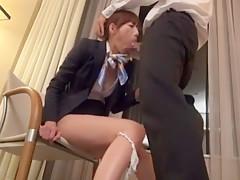Exotic Japanese model Kaori Nishio in Incredible Stockings/Pansuto, Secretary JAV scene
