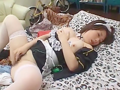 Amazing Japanese chick Hanano Nono in Horny Masturbation/Onanii, Stockings/Pansuto JAV movie