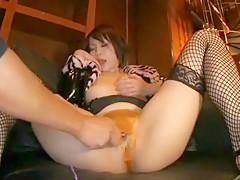 Horny Japanese chick Natsumi Horiguchi in Hottest Big Tits, Fishnet JAV clip