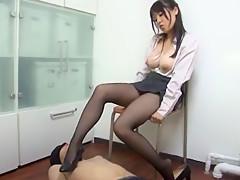 Crazy Japanese whore Miho Tsujii in Fabulous Foot Job/Ashifechi, Fetish JAV scene