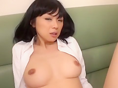Crazy Japanese model Maki Amemiya in Amazing Big Tits, Fingering JAV video