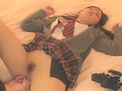 Exotic Japanese chick Mika Osawa in Crazy Cunnilingus, Fingering JAV clip
