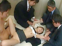 Amazing Japanese slut Ai Haneda in Horny Small Tits, Gangbang JAV scene