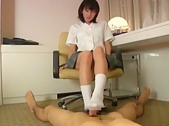 Horny Japanese slut Anna Kiuchi in Fabulous Foot Job/Ashifechi JAV movie