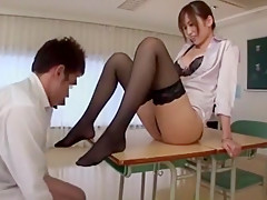 Amazing Japanese model in Fabulous Foot Job/Ashifechi, Stockings/Pansuto JAV scene