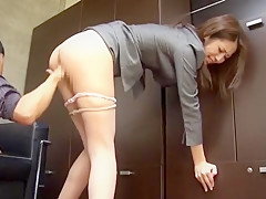 Incredible Japanese whore Riko Miyase in Best Stockings/Pansuto, Office JAV video