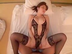 Fabulous Japanese model Risa Kanna in Incredible POV, Stockings/Pansuto JAV movie