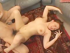 Exotic Japanese chick Aki Tomosaki, Reiko Yamaguchi in Amazing Big Tits, Cunnilingus JAV clip