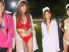 Horny Japanese model Chloe Fujisaki, Aozora Konatsu, Azumi Harusaki in Best JAV clip