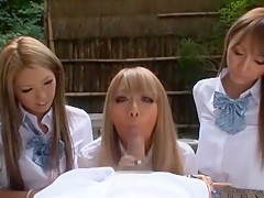 Hottest Japanese chick Sakura Kiryu, Rio Sakura, Mana Izumi in Horny Hardcore, Foot Fetish JAV clip