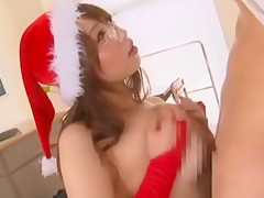 Hottest Japanese girl Ai Sayama, Akiho Yoshizawa, Santa Girls in Incredible Stockings/Pansuto, Big Tits JAV video