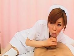 Crazy Japanese girl Shiori Hazuki, Mirei Kazuha in Exotic Nurse/Naasu, Blowjob/Fera JAV clip