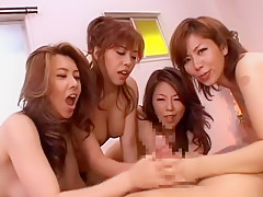 Crazy Japanese slut Jun Rukawa, Chisato Shouda, Yuuki Seto in Amazing Fingering, POV JAV movie