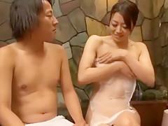 Hottest Japanese chick Ryoko Murakami, Misa Yuuki, Reiko Nakamori in Incredible Big Tits JAV clip
