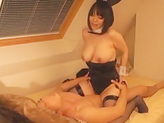 Hottest Japanese slut Yuuna Hoshisaki in Incredible Stockings/Pansuto, Cunnilingus JAV clip