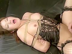 Horny Japanese model in Hottest /Futanari, Stockings JAV video