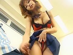 Horny Japanese model Akane Hotaru in Incredible Fetish, Upskirts/Panchira JAV scene