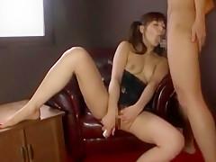 Fabulous Japanese chick Kanade Otaha in Crazy Blowjob/Fera, Threesomes JAV movie